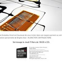 Nouvelle exposition personnelle à la Galerie Gratadou-Intuiti 75003 Paris